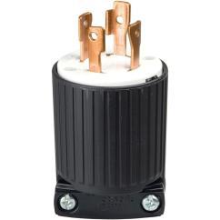 L5 30p To L14 30r Wiring Diagram Subaru Impreza Radio Eaton 30 Amp 125 250 Volt 4 Wire Twist Lock Plug Black L1430p The