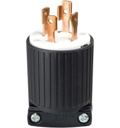 30 amp 125 250 volt 4 wire twist lock plug black [ 1000 x 1000 Pixel ]