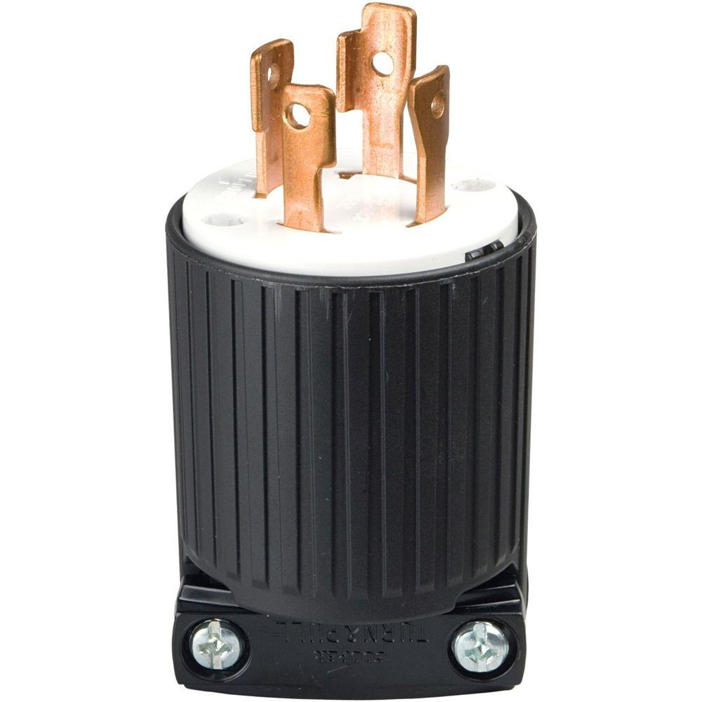 hight resolution of 30 amp 125 250 volt 4 wire twist lock plug black