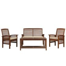 Walker Edison Furniture Company Boardwalk 4-piece Dark