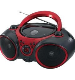 jensen portable stereo cd player with am fm stereo radio [ 1000 x 1000 Pixel ]
