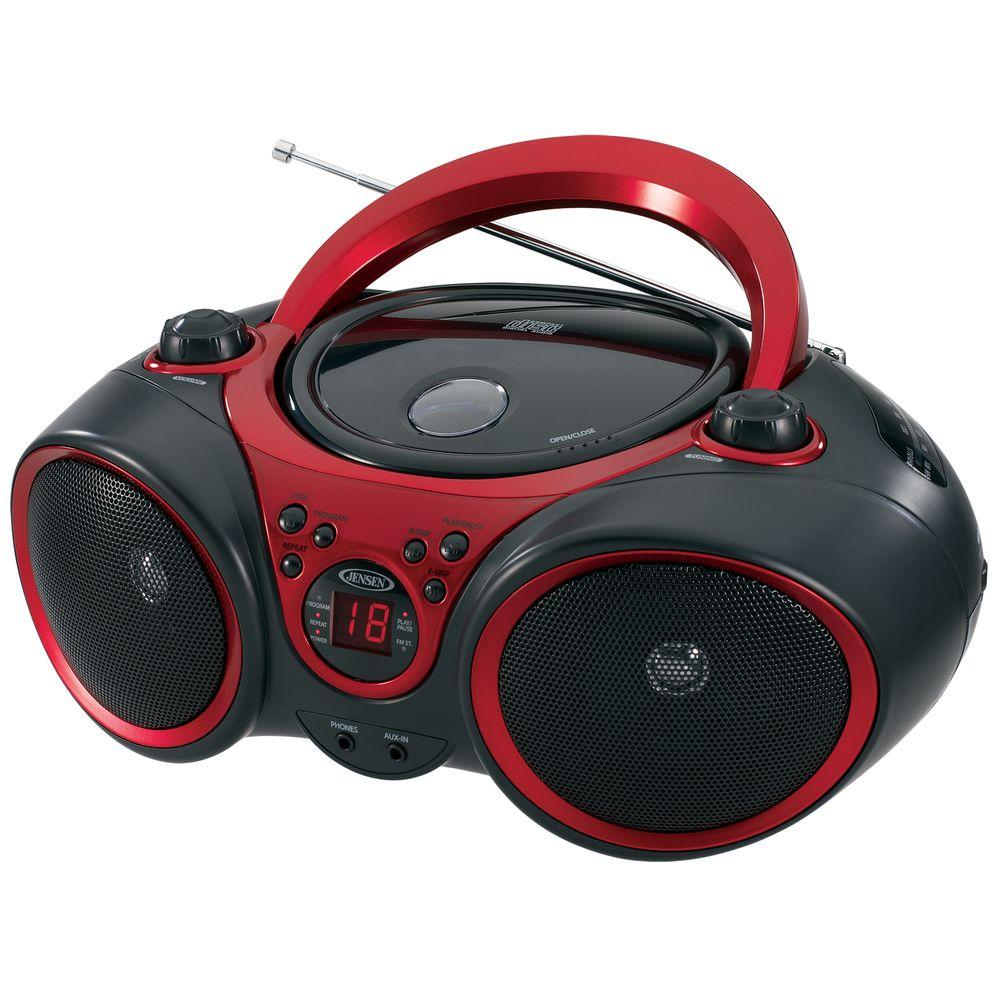 hight resolution of jensen portable stereo cd player with am fm stereo radio