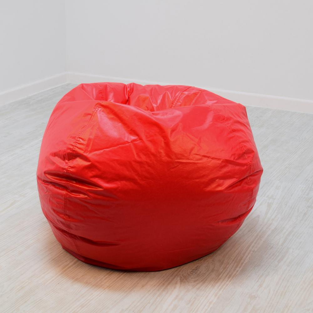Vinyl Bean Bag Chairs Ace Casual Furniture Red Vinyl Bean Bag 9800301 The Home Depot