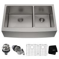 KRAUS Standart PRO Farmhouse Apron-Front Stainless Steel ...