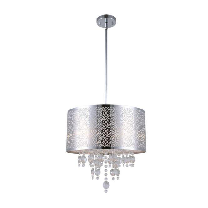 Canarm Piera 4 Light Chrome Chandelier With Crystal Drops