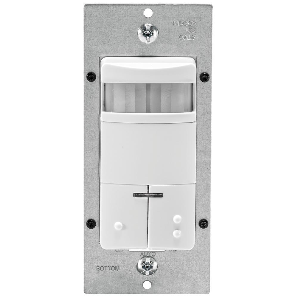 medium resolution of leviton decora dual relay passive infrared wall switch occupancy sensor white