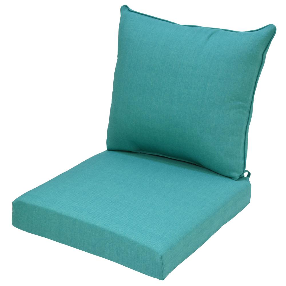 lounge chair cushions cheap child desk and set hampton bay 24 x outdoor cushion in standard seaglass