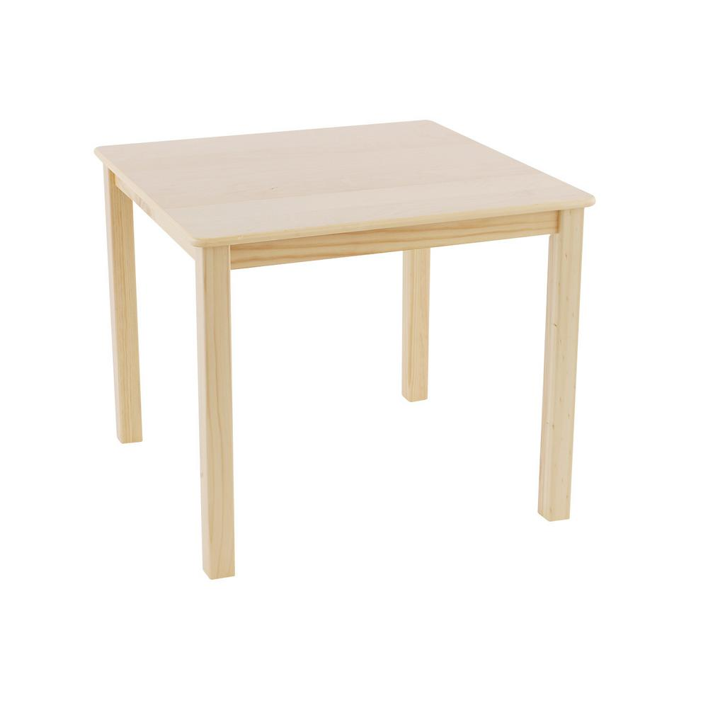Natural Wood Square Kid and Toddler Table150350001