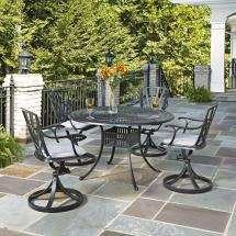 Home Styles Largo 48 In. Cast Aluminum Outdoor 5-piece