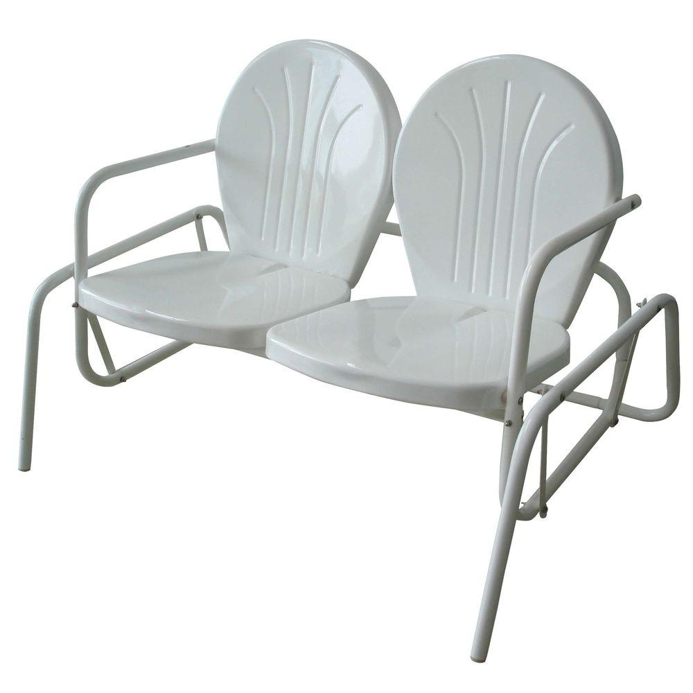 indoor outdoor chairs baby bouncy amerihome double seat glider patio chair for use
