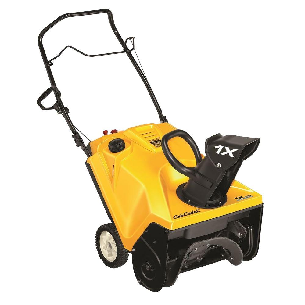 hight resolution of cub cadet 1x 221 hp 21 in 179cc single stage electric start gas snow blower