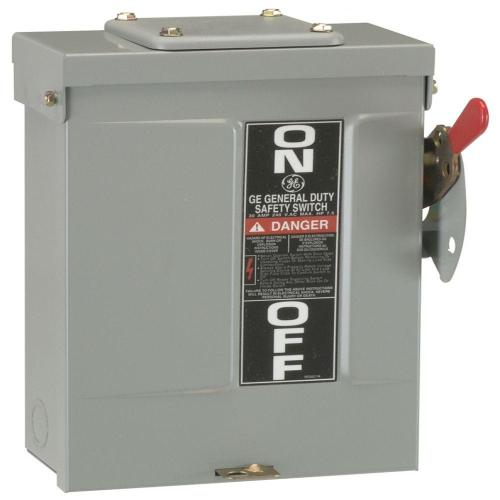 small resolution of ge 30 amp 240 volt fusible outdoor general duty safety switch