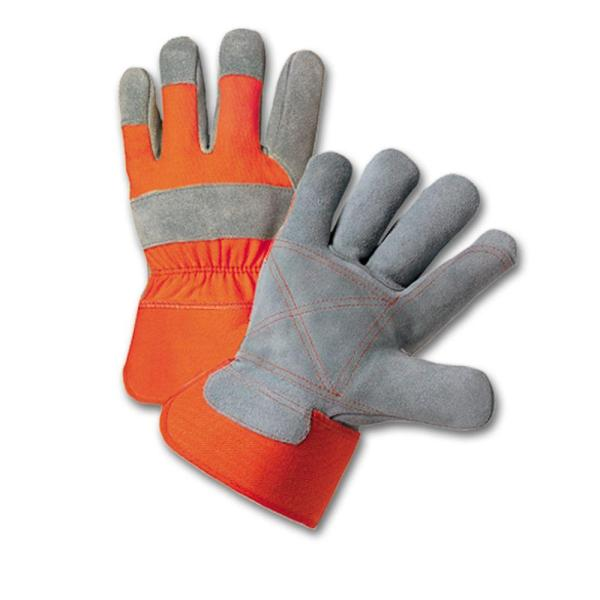 West Chester Large Split Cowhide Leather Palm Work Gloves
