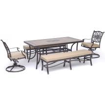 Hanover Monaco 5-piece Aluminum Outdoor Dining Set With 2
