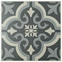 Merola Tile Braga Black 7-3/4 in. x 7-3/4 in. Ceramic ...