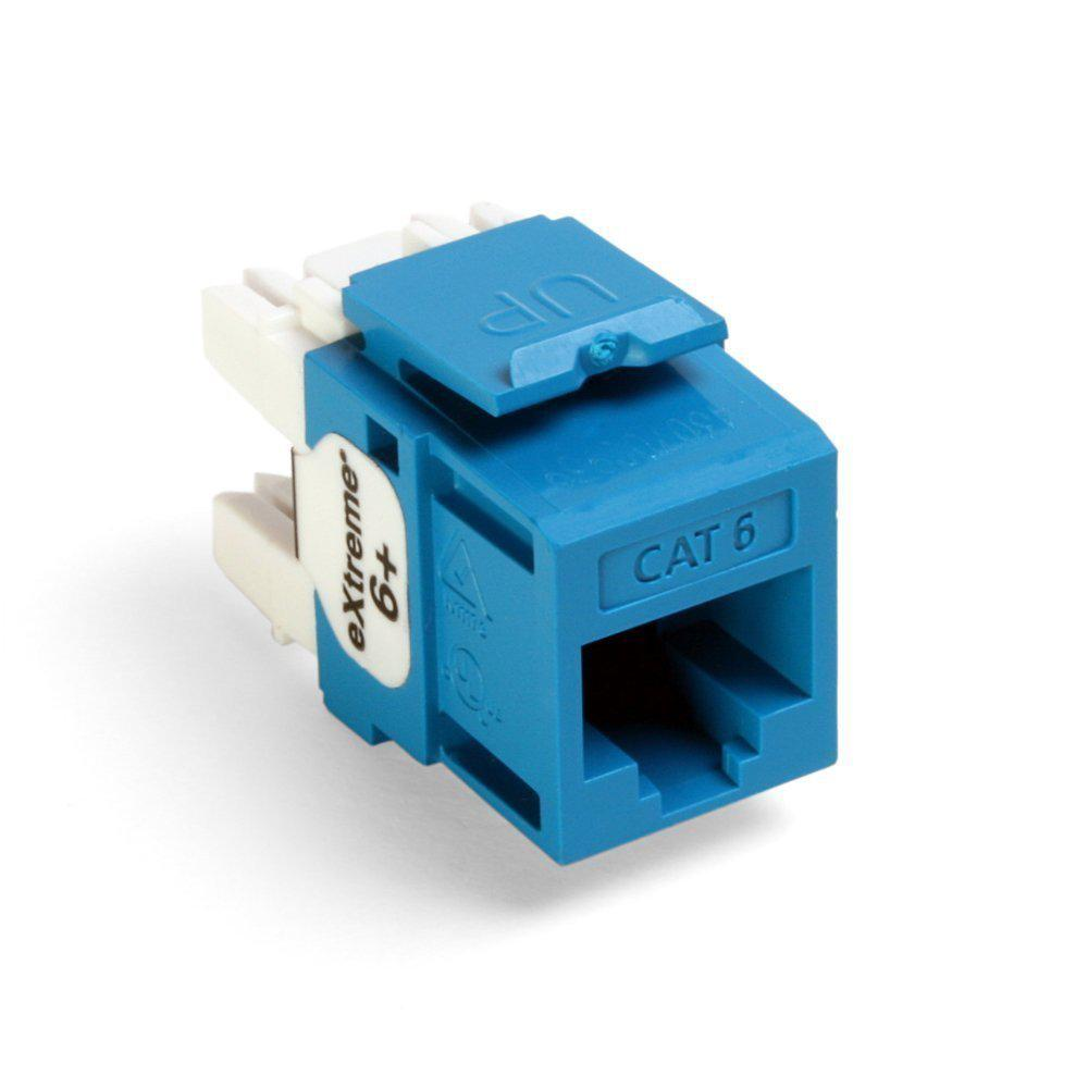 medium resolution of leviton quickport extreme cat 6 connector with t568a b wiring blue