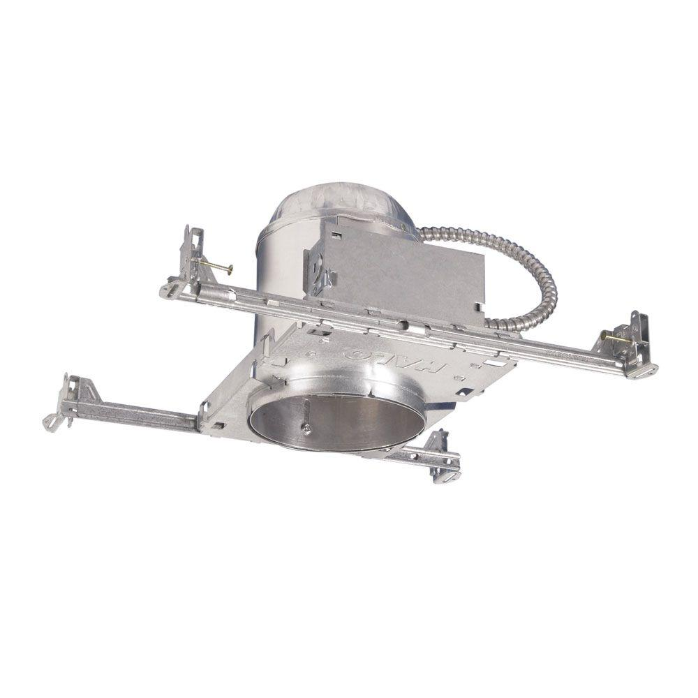 hight resolution of aluminum recessed lighting housing for new construction ceiling insulation contact