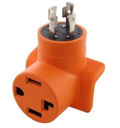 ac works generator to dryer ev adapter 30 amp 4 prong l14 30p [ 1000 x 1000 Pixel ]