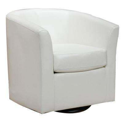 modern leather accent chairs lazyboy office chair club faux the nylah ivory pu swivel