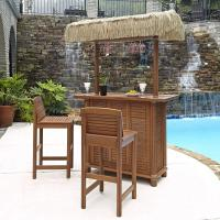 Home Styles Bali Hai Outdoor Patio Tiki Bar and 2-Stools ...