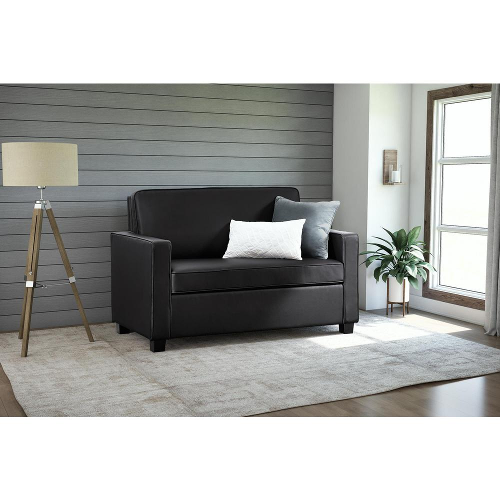 twin sofa bed leather mogensen fredericia dorel casey size black faux sleeper 2150009 the