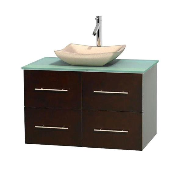 Glass Vanity Top With Sink