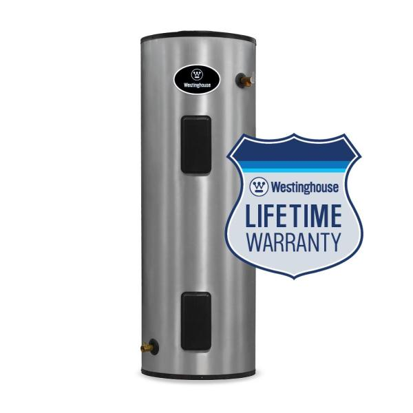 Westinghouse 100 Gal. Lifetime 5500-watt Electric Water Heater With Durable 316l Stainless Steel