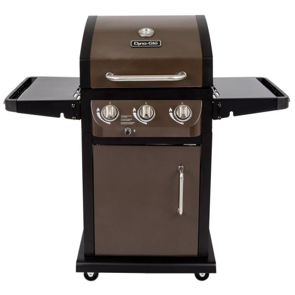 Dyna-glo Smart Space Living 3-burner Propane Gas Grill In Bronze-dgb390bnp- - Home Depot
