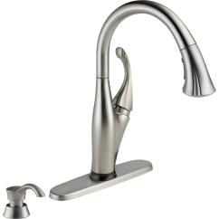 Home Depot Delta Kitchen Faucets Ceiling Fan Addison Single Handle Pull Down Sprayer Faucet With Touch2o Technology And Soap Dispenser In Stainless