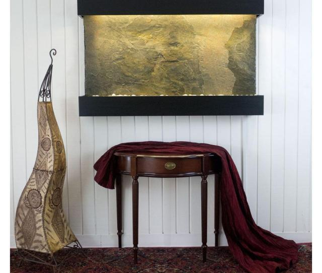 Water Wonders Classic Quarry Large Horizon Falls Jeera Slate With Black Onyx Trim Kit Fountain Wwlhcj Bl The Home Depot