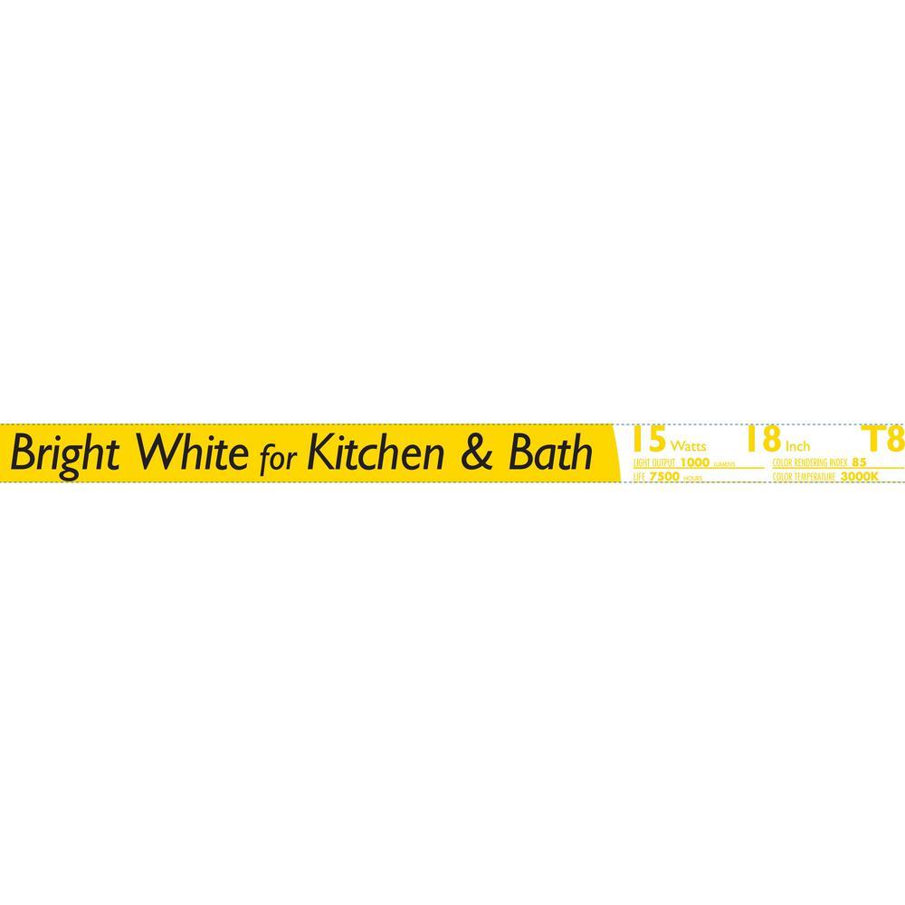 medium resolution of linear t8 fluorescent tube light bulb bright white 3000k