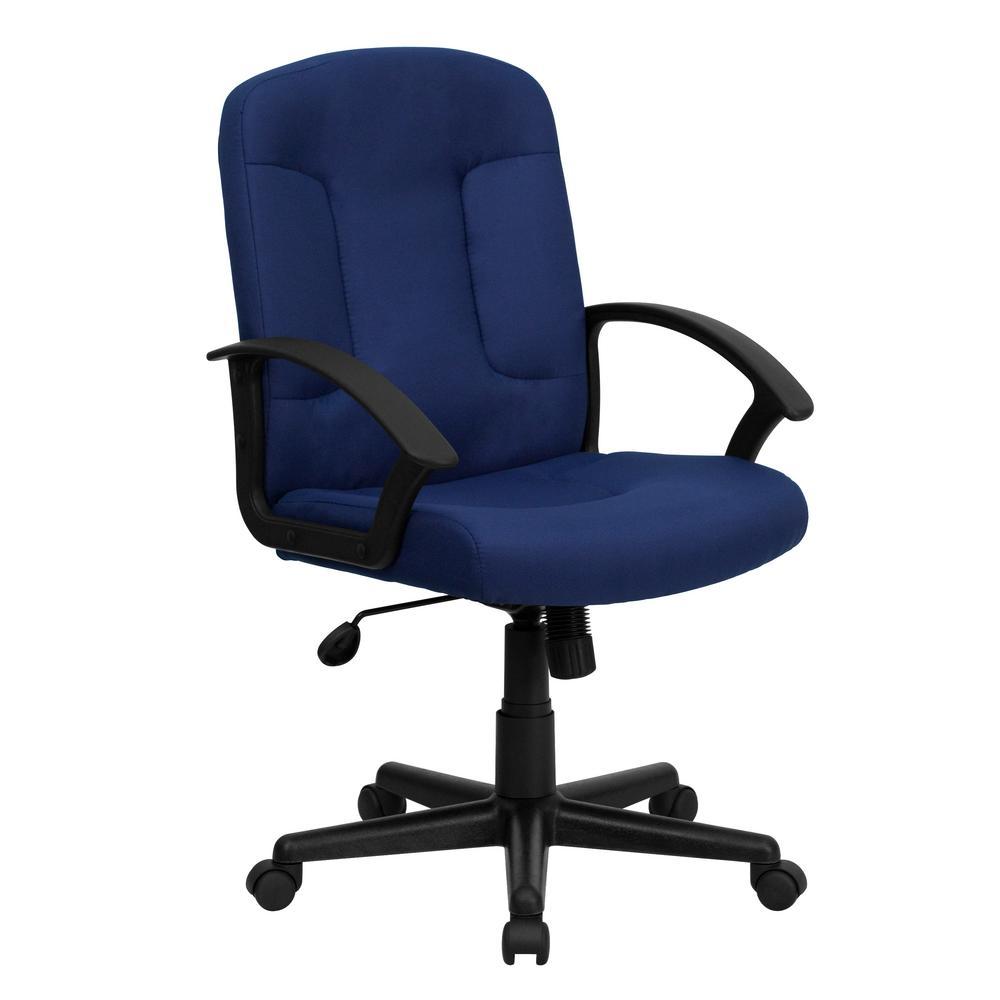 Flash Furniture MidBack Navy Fabric Executive Swivel