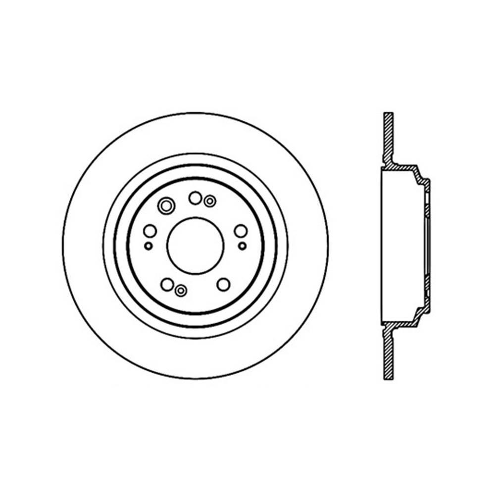 Centric Parts Disc Brake Rotor 2009-2014 Acura TL 3.5L 3