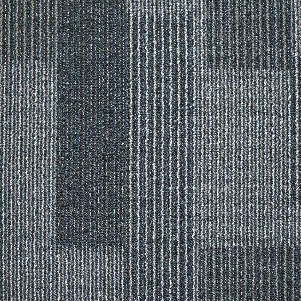 Rockefeller Midnight Blue Loop 197 in x 197 in Carpet Tile 20 TilesCase707007  The Home