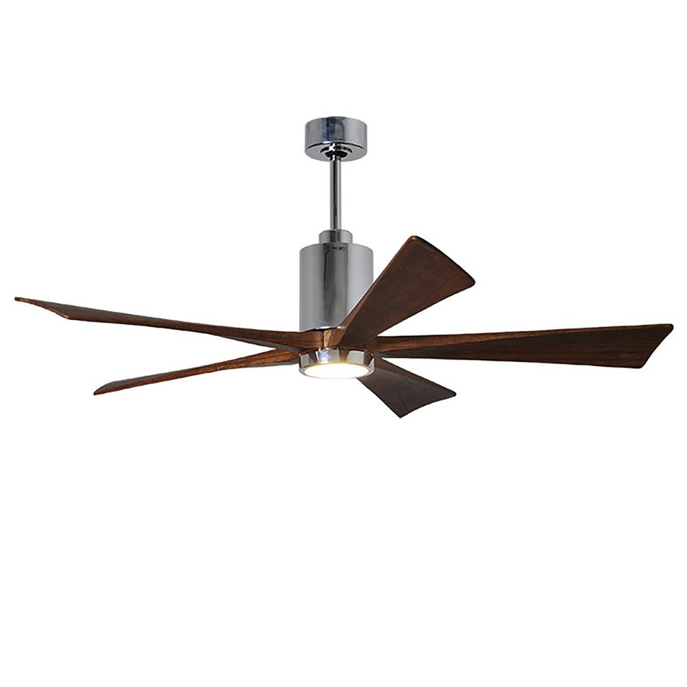 hight resolution of patricia 60 in led indoor outdoor damp polished chrome ceiling fan with