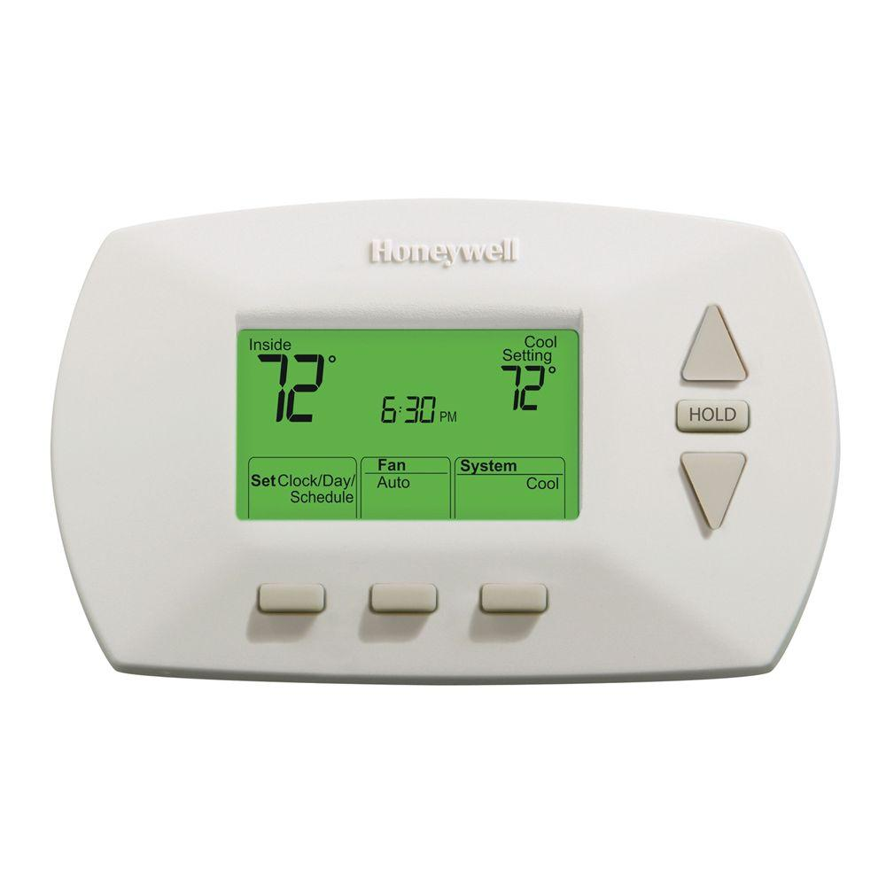 hight resolution of honeywell 5 2 day programmable thermostat with backlight