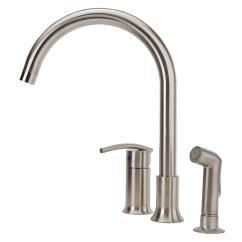 3 Hole Kitchen Faucet Diy Design Fontaine Vincennes Single Handle Standard With Side Sprayer In Chrome Mff Vcnk3 Cp The Home Depot