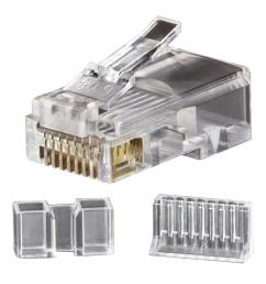 klein tools modular data plug rj45 cat6 25 pack vdv826 603 [ 1000 x 1000 Pixel ]