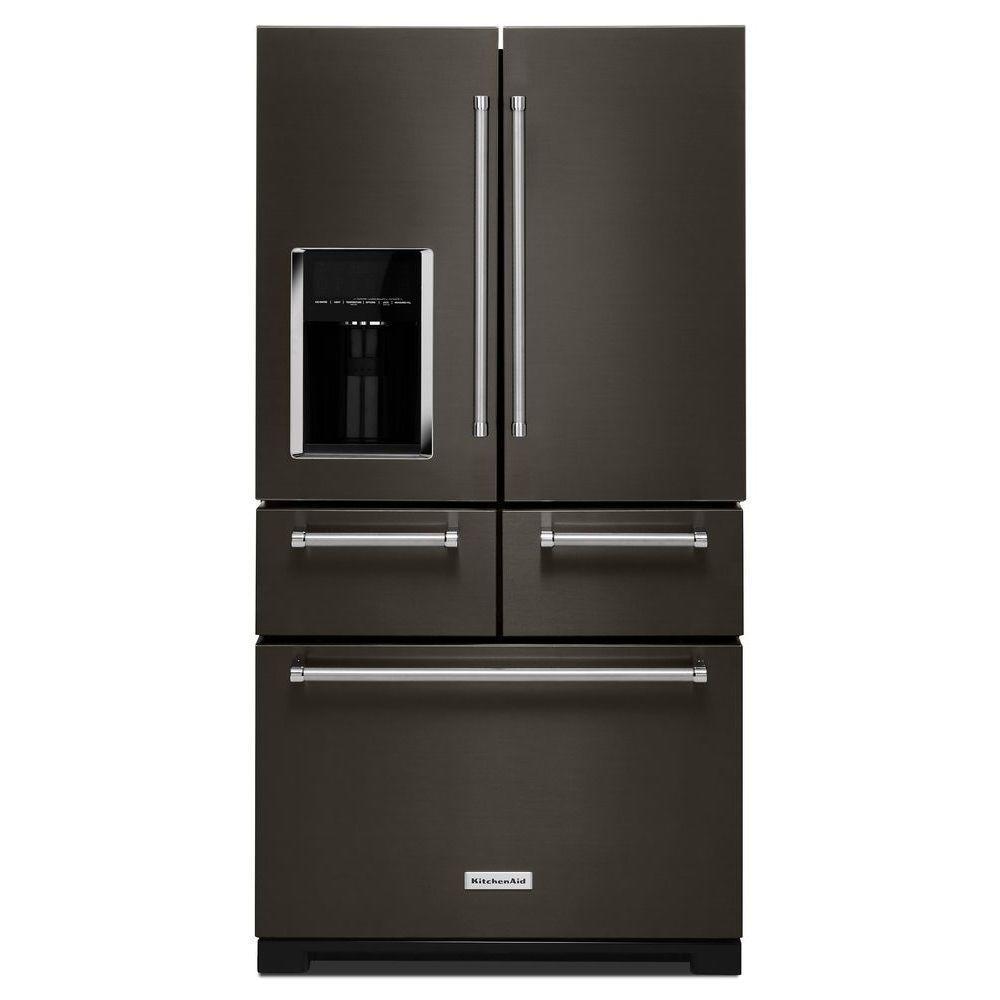 KitchenAid 258 cu ft French Door Refrigerator in Black