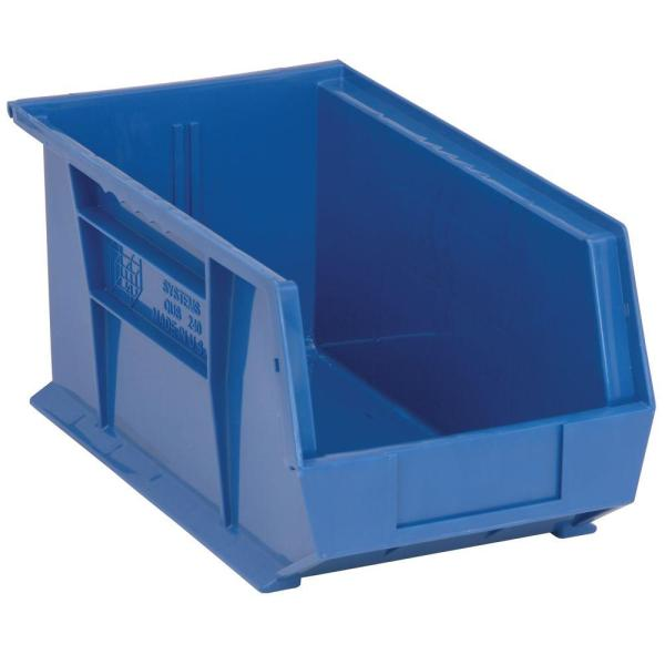 Edsal 3.4 Gal. Stackable Plastic Storage Bin In Blue 12-pack -pb8504b - Home Depot