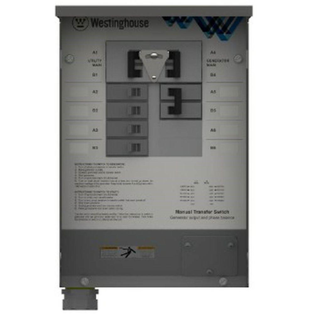 hight resolution of westinghouse 30 amp manual transfer switch whmts30 the home depot