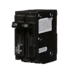 murray 20 amp double pole type msq qo replacement circuit breaker [ 1000 x 1000 Pixel ]