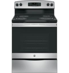 ge 30 in 5 3 cu ft free standing electric range in stainless [ 1000 x 1000 Pixel ]