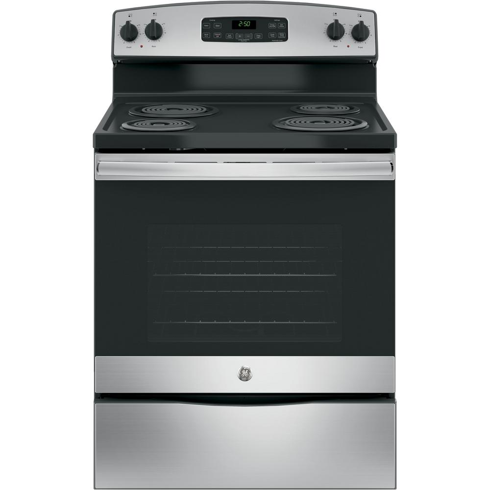 medium resolution of ge 30 in 5 3 cu ft free standing electric range in stainless