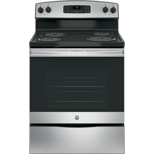 small resolution of ge 30 in 5 3 cu ft free standing electric range in stainless