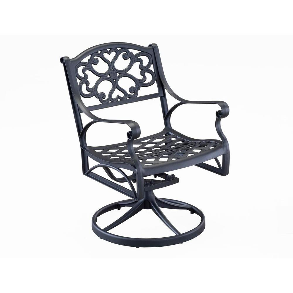 Styles Of Chairs Home Styles Biscayne Black Swivel Patio Dining Chair
