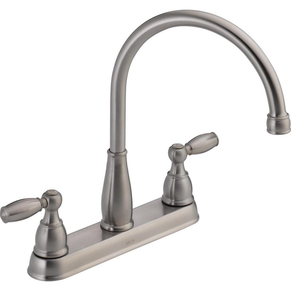 Delta Foundations 2handle Standard Kitchen Faucet In