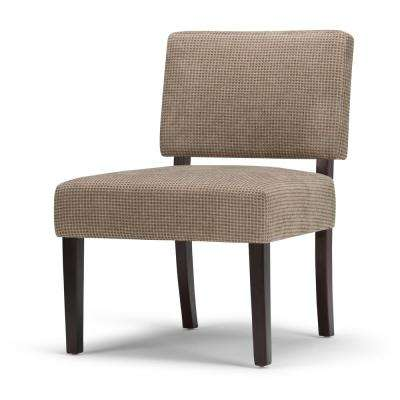 brown slipper chair dining covers for armchairs microfiber accent chairs the virginia tan check fabric