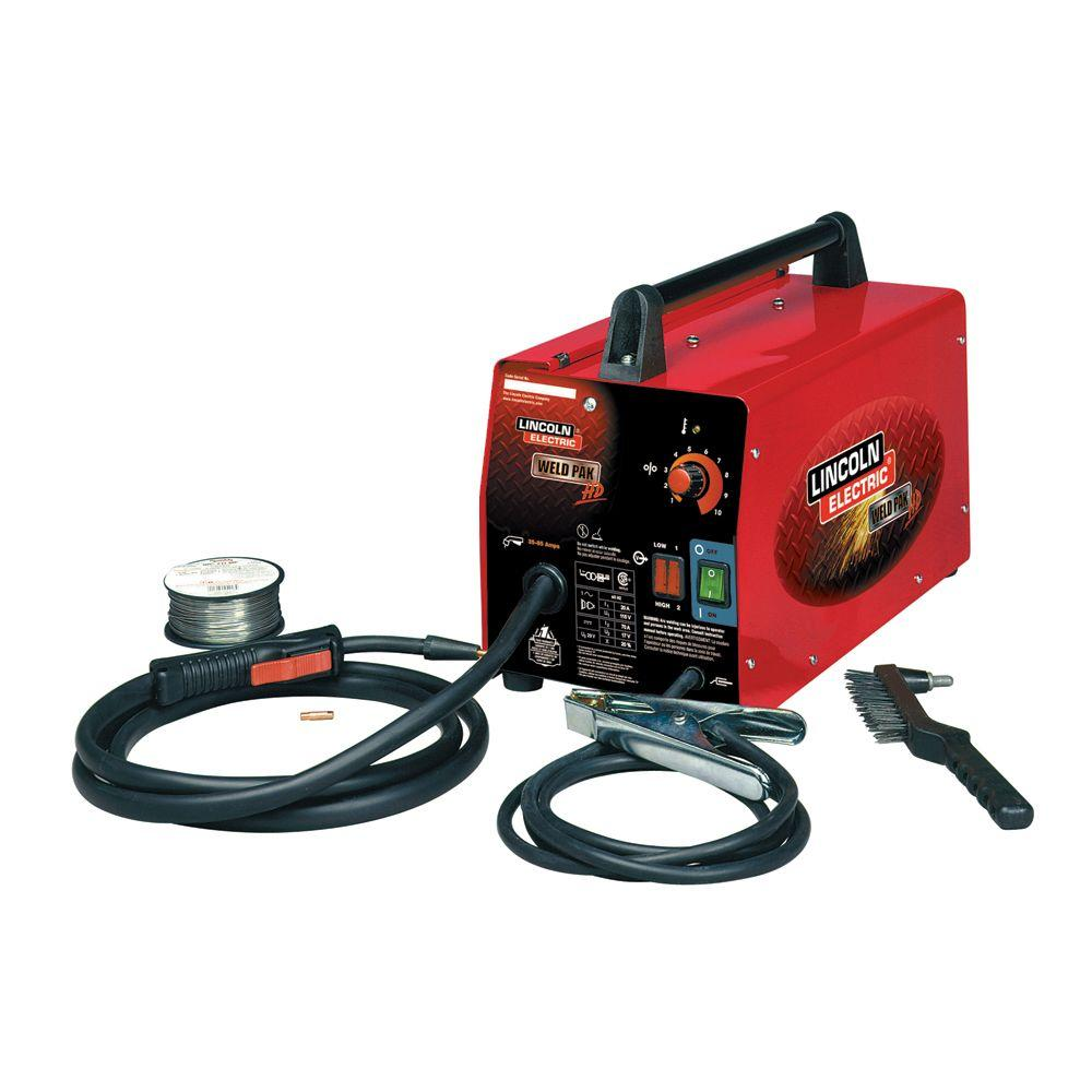 medium resolution of lincoln electric 88 amp weld pack hd flux core wire feed welder for welding up