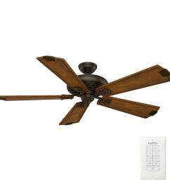 casablanca fellini 60 in indoor brushed cocoa bronze ceiling fan with remote [ 1000 x 1000 Pixel ]